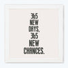 New chances Motivational Glass Framed Posters & Artprints