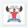 Do Not Stop Gym Glass Framed Posters & Artprints