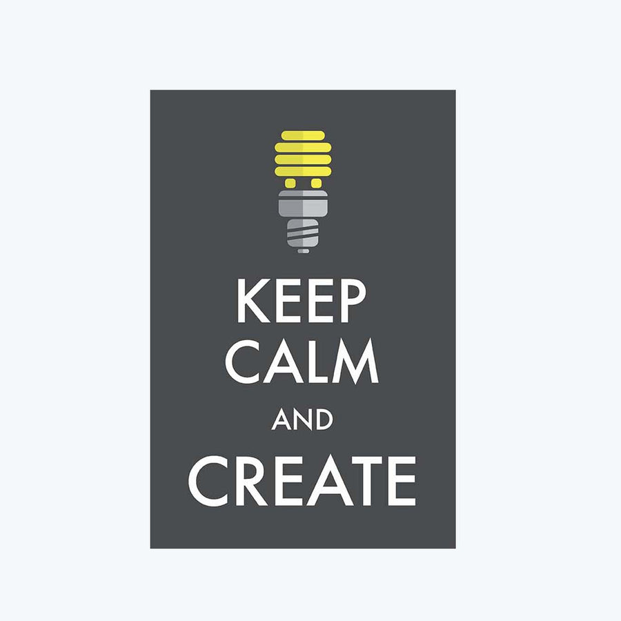Keep Calm and Create Postcard
