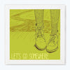 Let's Go Somewhere Humour Glass Framed Posters & Artprints