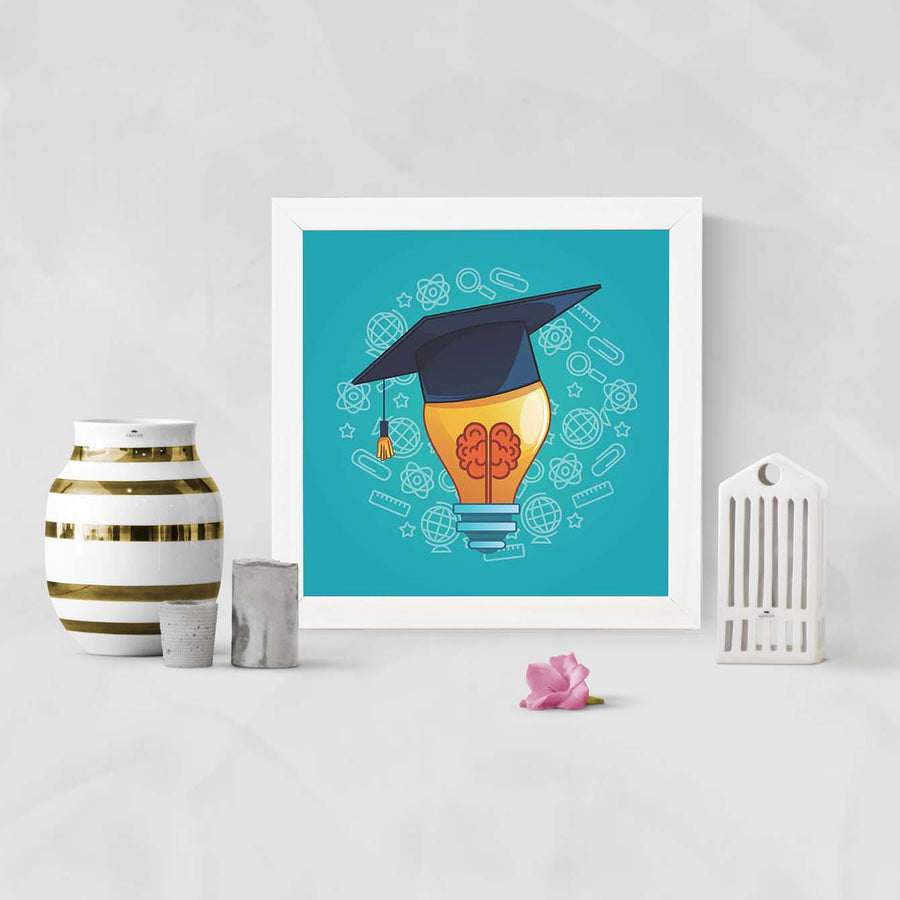 Education Concept Education Glass Framed Posters & Artprints
