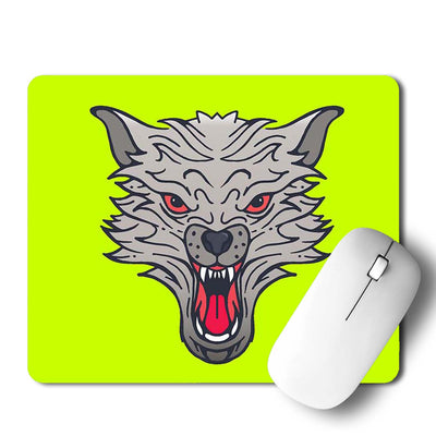Wolf Face Mouse Pad