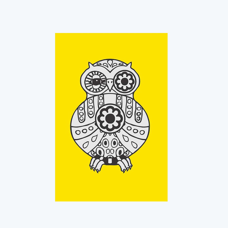 Owl Geometry Abstract Post Cards Online