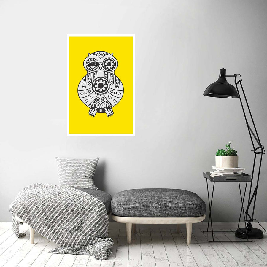 Owl Geometry Abstract Posters