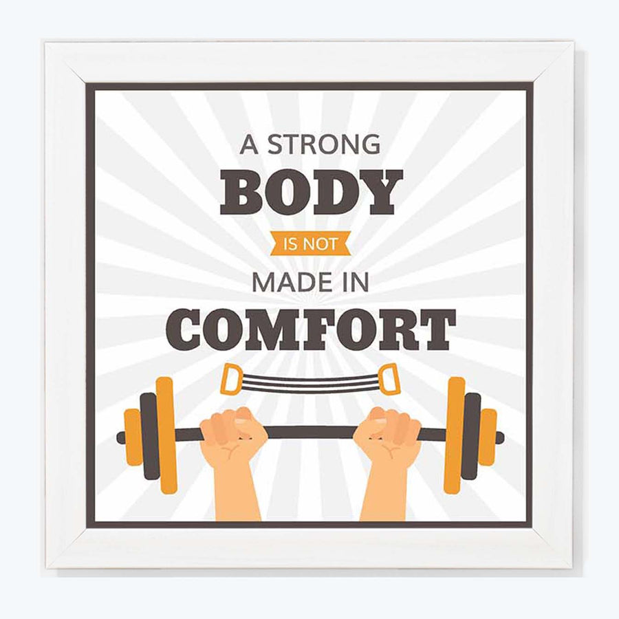 A Strong body Framed Poster