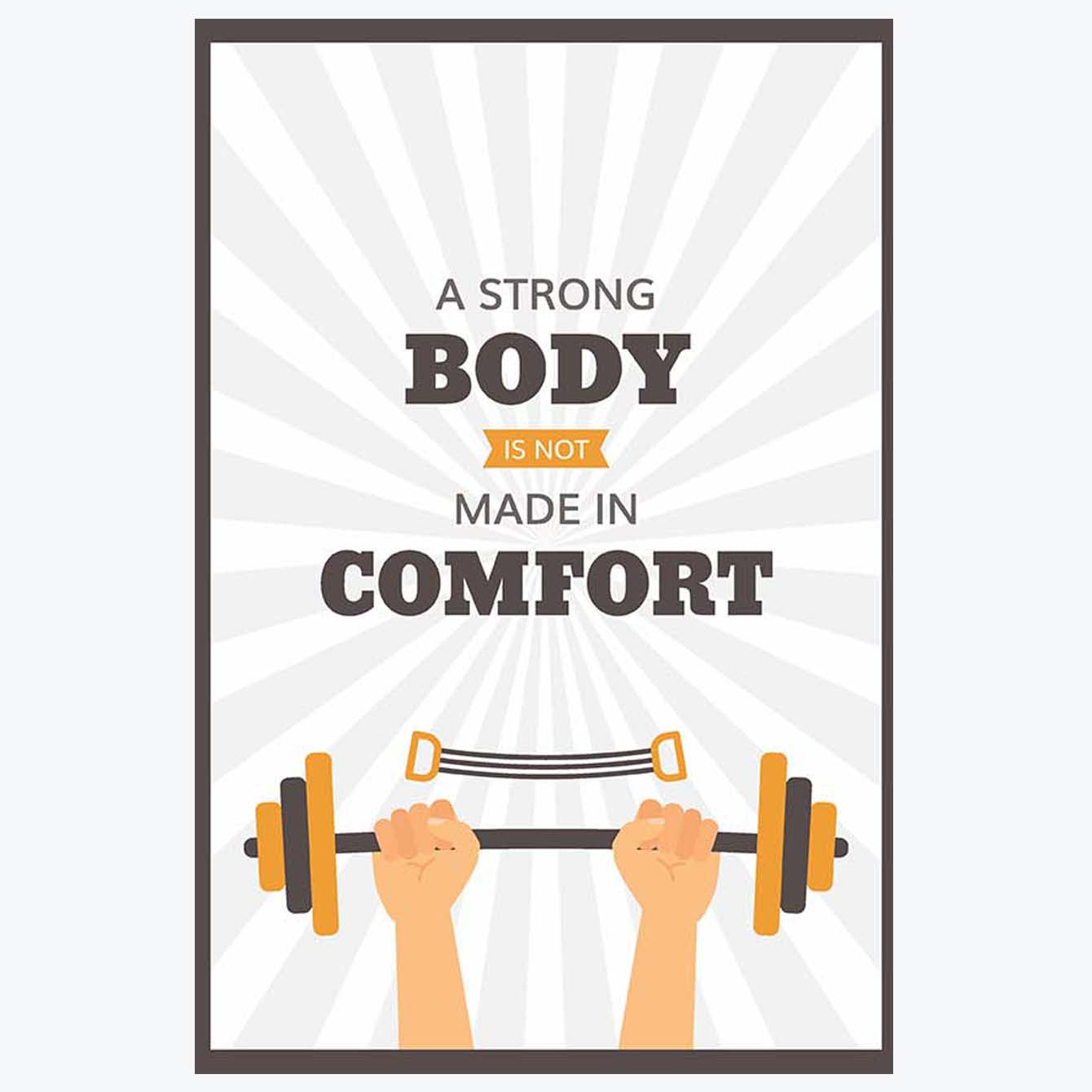 A Strong body Gym Posters