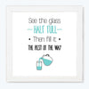 The Rest of the Way Humour Glass Framed Posters & Artprints