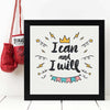 I can and I will Framed Poster