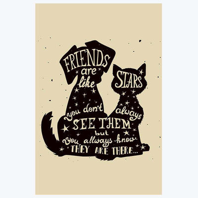 Friends are Like Star Typography Posters