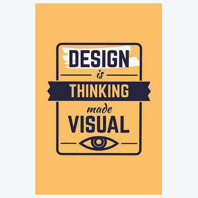 Thinking Made Visual Typography Posters