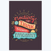Creativity is to Think Typography Posters