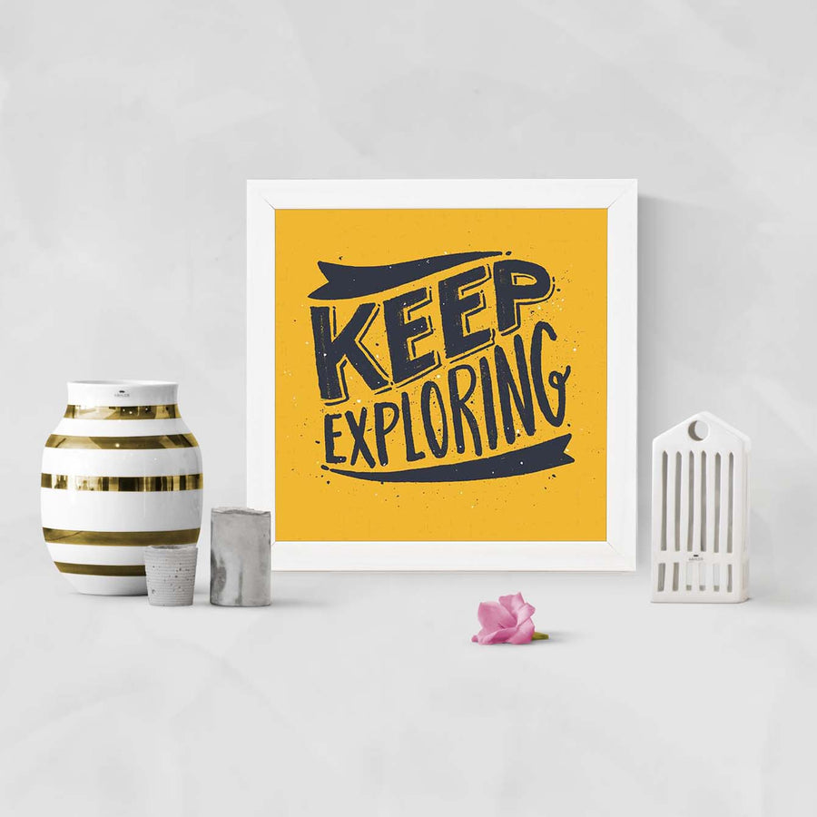 Keep Exploring Framed Poster