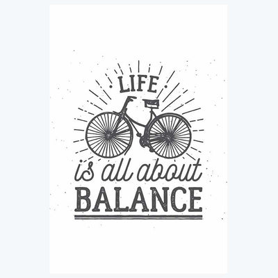 All About Balance Typography Posters