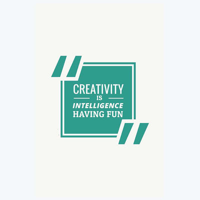 Creativity is Intelligence Typography Posters