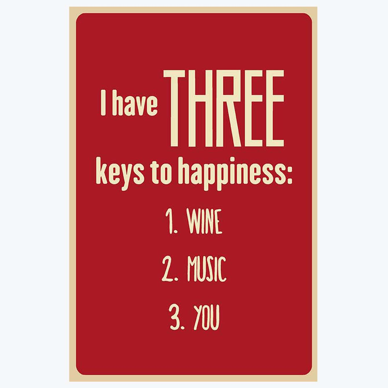 Key of Happiness Humour Posters
