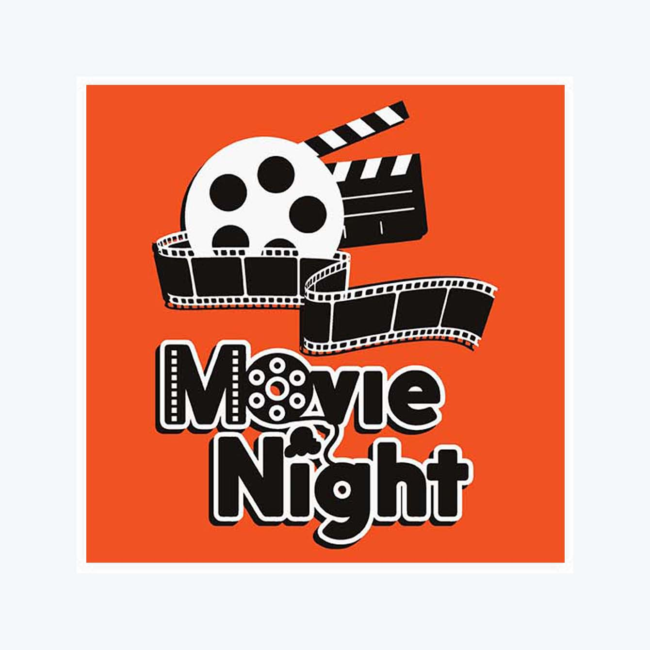 Movie Night Sticker