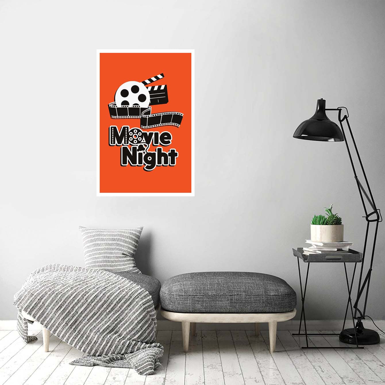 Movie Night Abstract Posters