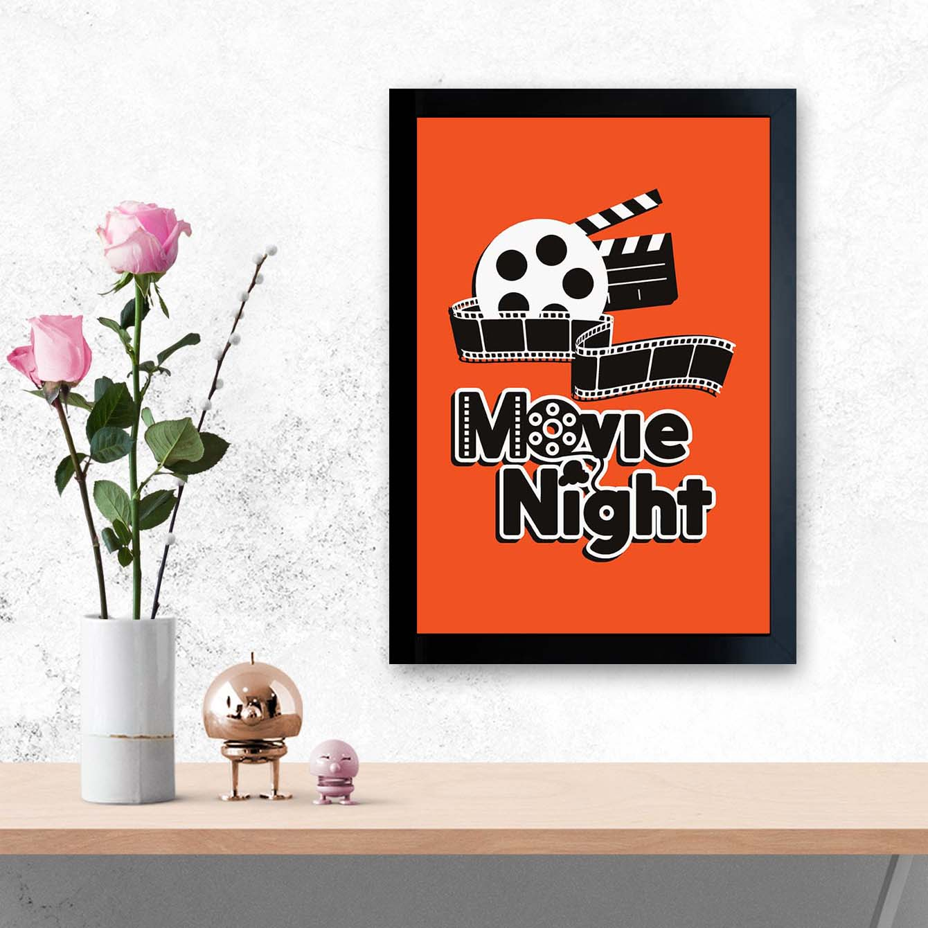 Movie Night   Framed Poster