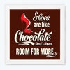 Shoes are like Chocolate Typography Glass Framed Posters & Artprints