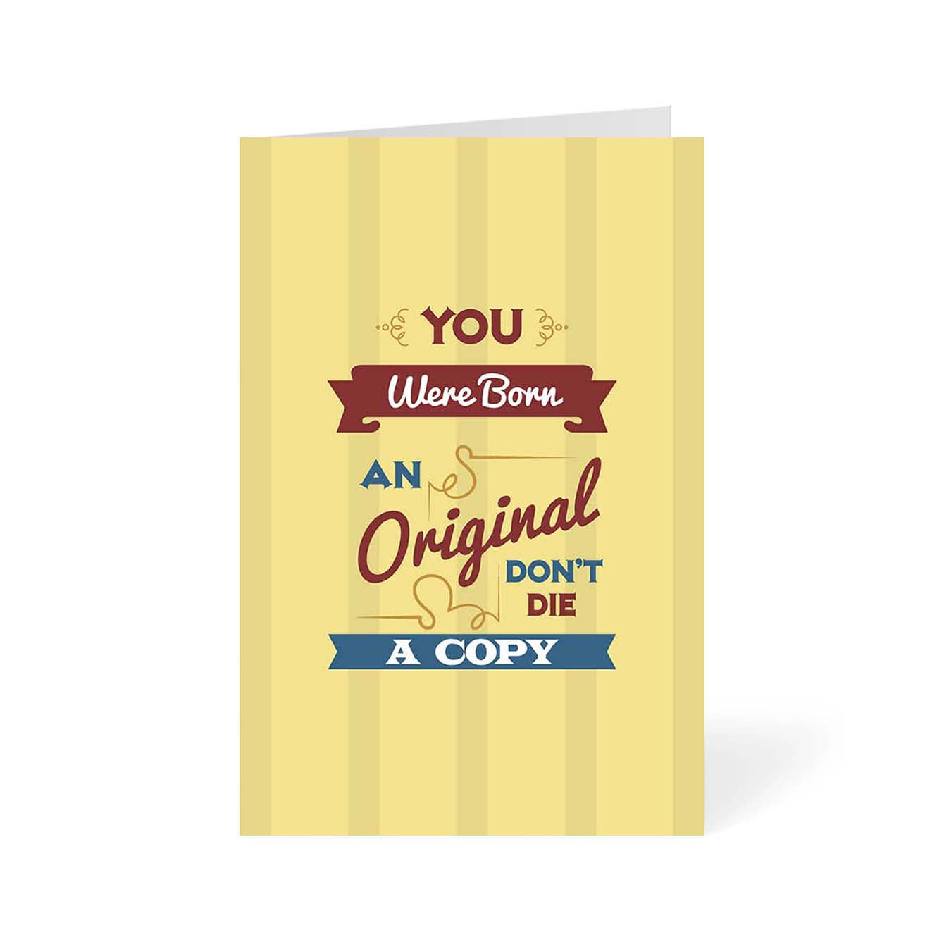 An Original Don't Die a copy Motivational Greeting Card Online