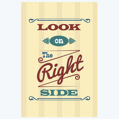 Look on Right Side Typography Posters
