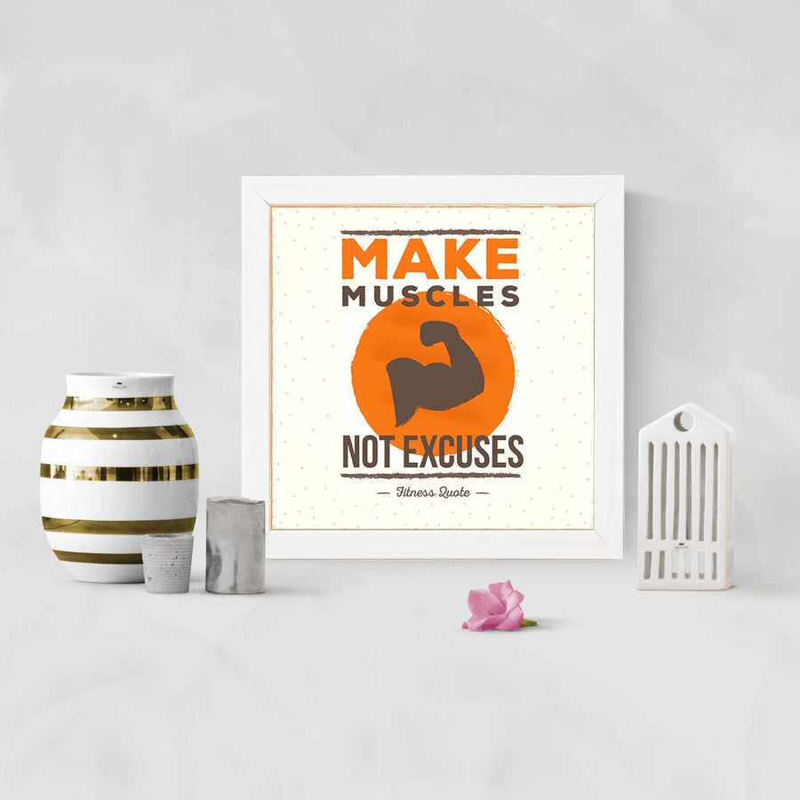 Make Muscles Framed Poster