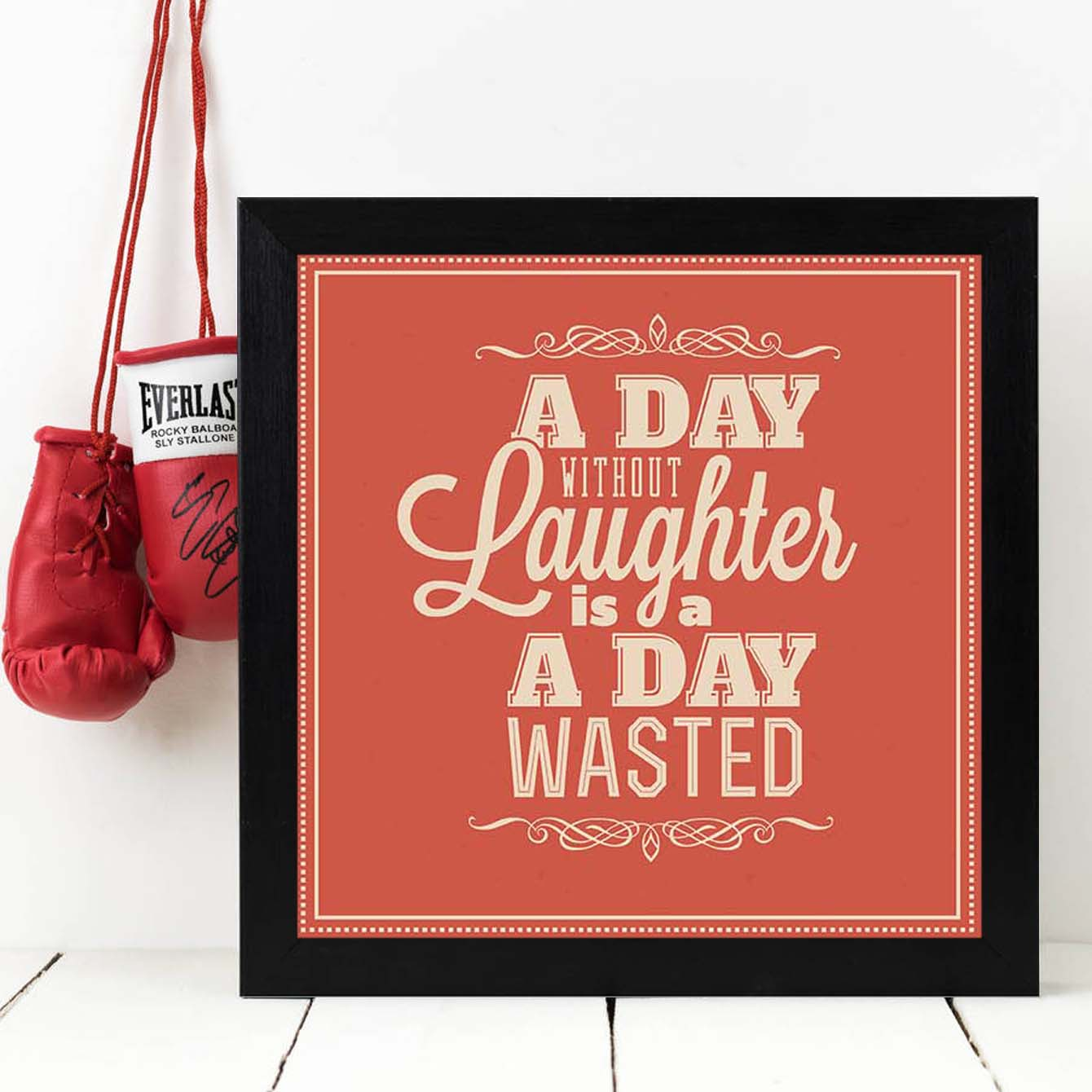 A day without Laughter Framed Poster