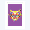 Colourful Face box   Framed Poster