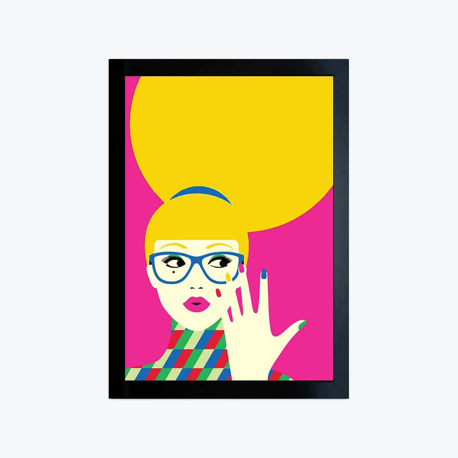 Pop Lady Framed Poster