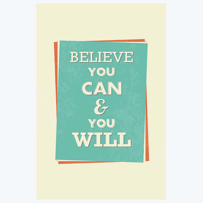 Believe You can Retro Posters