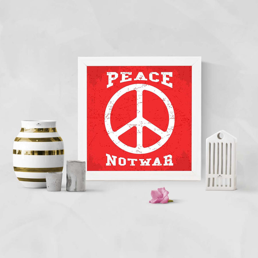 Peace Not War Framed Poster