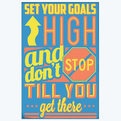Set Your Goal High Retro Posters