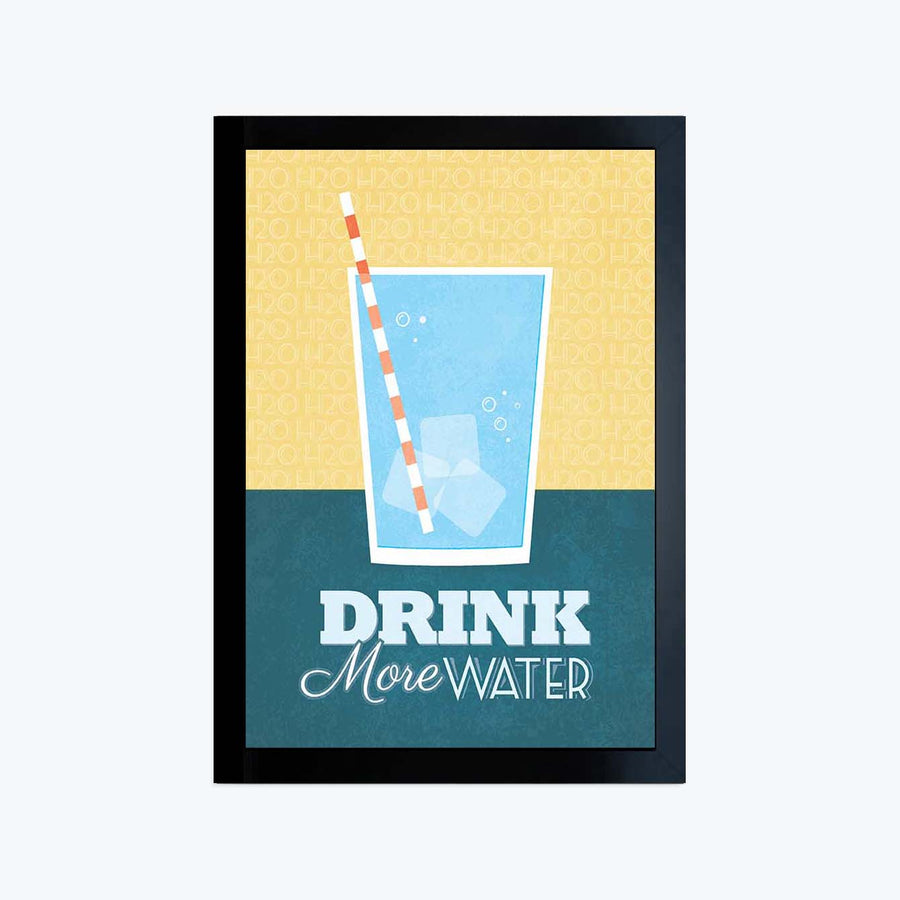 Drink More Water Framed Poster