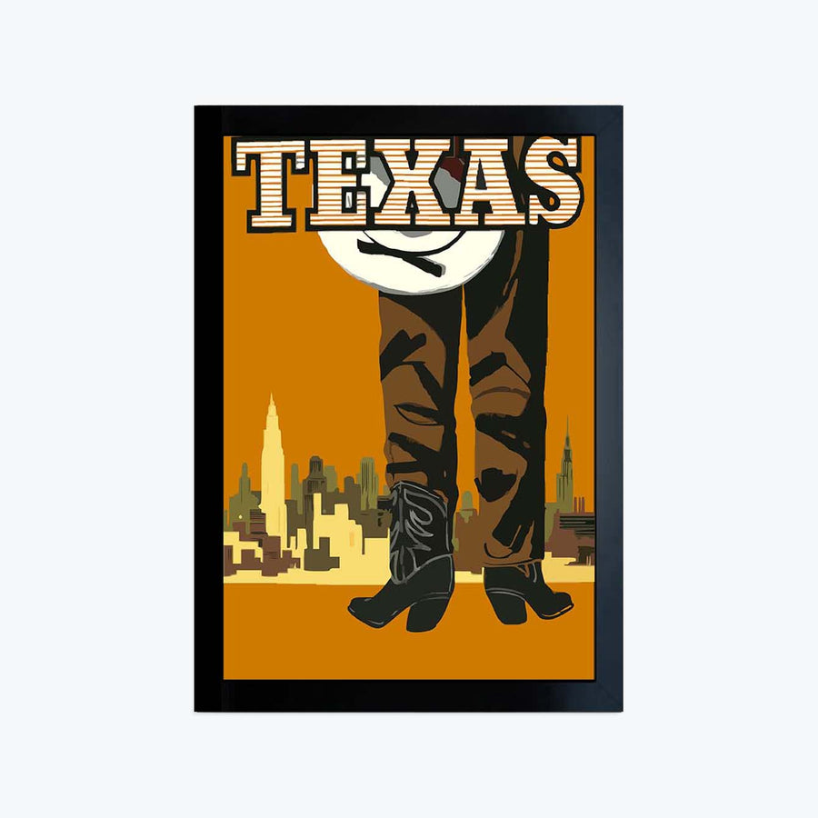 Texas Framed Poster