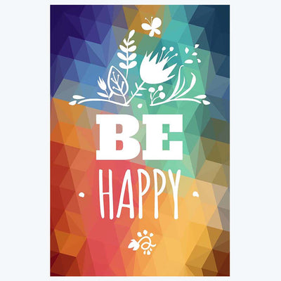 Be happy Pattern Posters