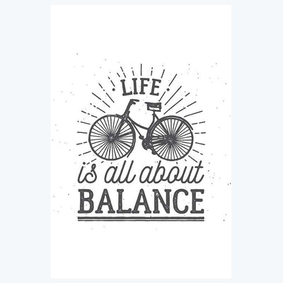 Life is all About Balance Typography Posters
