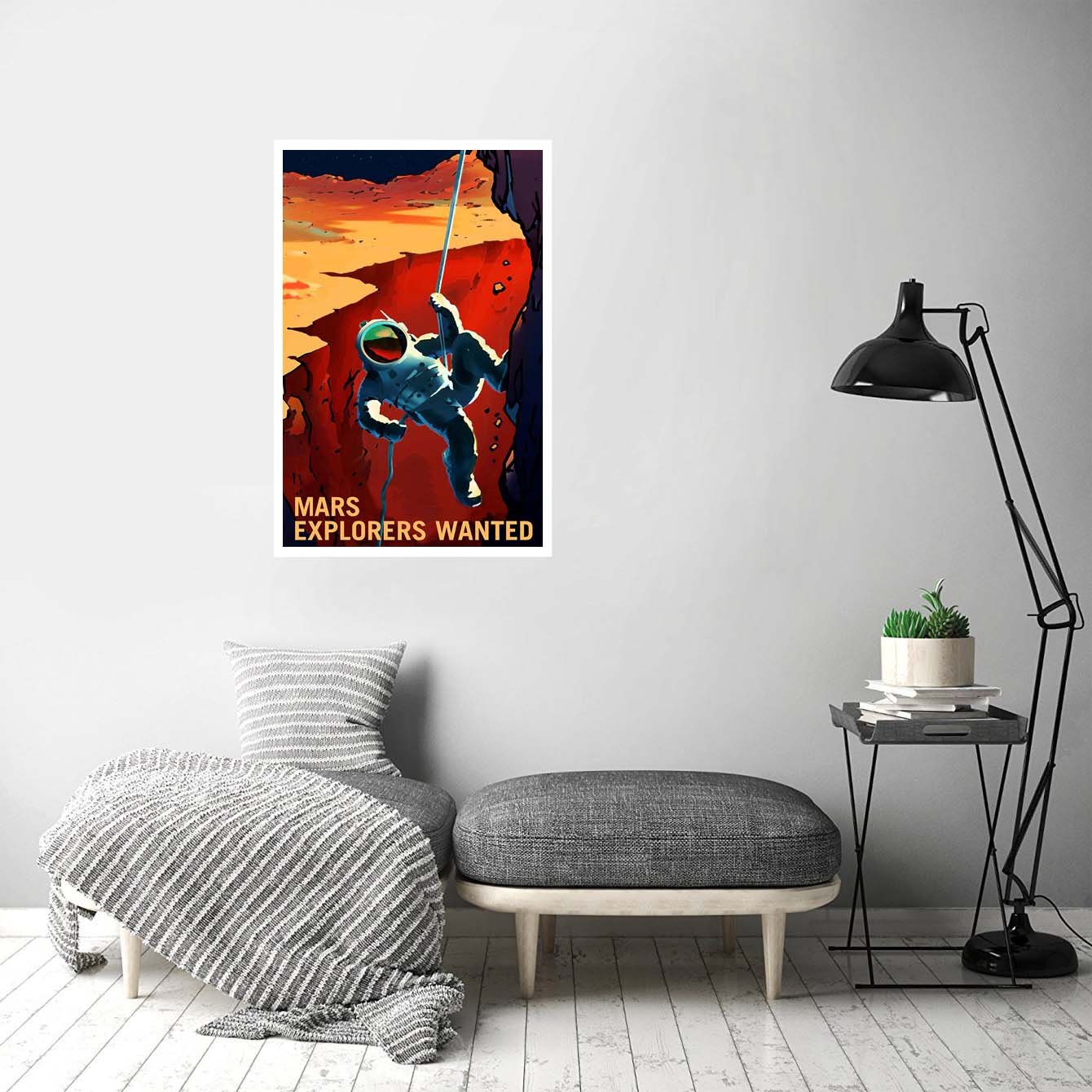 Mars Explores Wanted Painting Posters