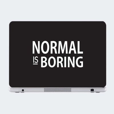 Norma Is Boring Motivational Laptop Skin Online