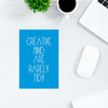 Creative Mind Are Rarely Tidy Motivational Post Cards Online