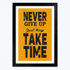 Never Give Up Framed Poster