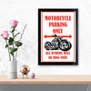 Motorcycle Parking Only Bike Glass Framed Posters & Artprints