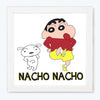 Nacho Nacho Cartoon Glass Framed Posters & Artprints