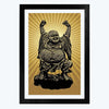 Laughing Buddha Framed Poster