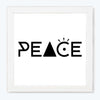 Peace Sign Glass Framed Posters & Artprints
