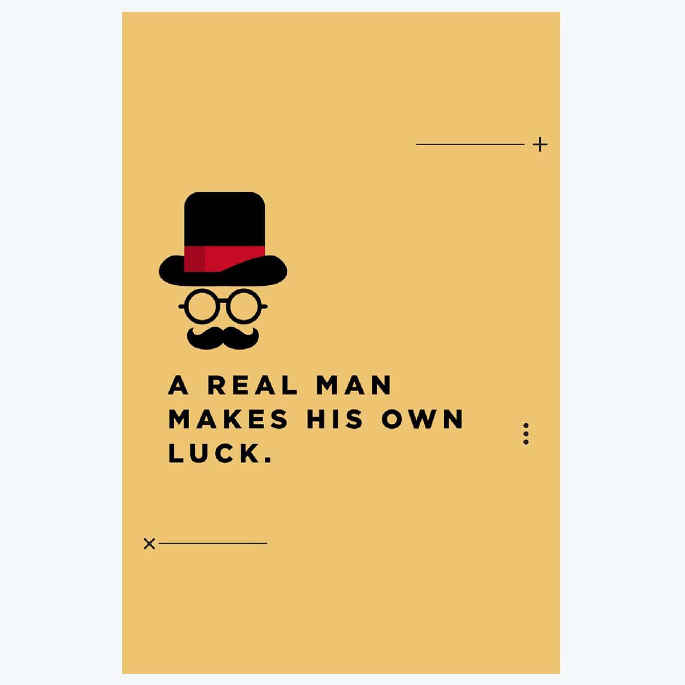 A Real MAN Humour Posters