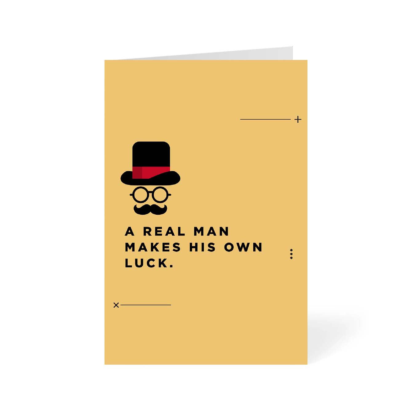 A Real MAN Humour Greeting Card Online
