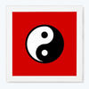 Yin-Yang Sign Glass Framed Posters & Artprints