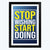 Stop Wishing Start Doing Framed Poster