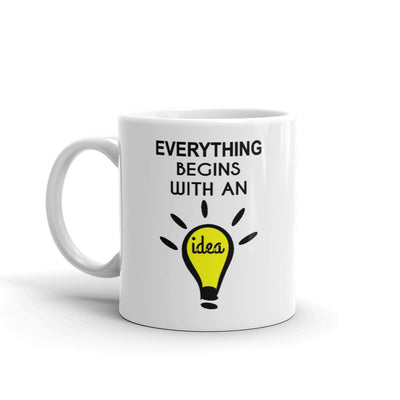 Begins Idea Motivational Coffee Mug