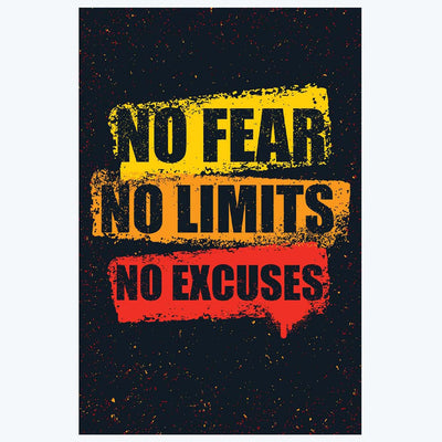 No Excuses Gym Posters